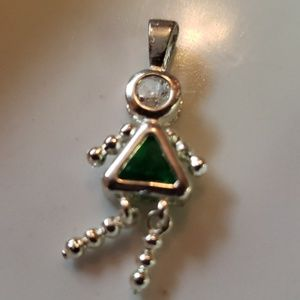 Jewelry - Vintage 90's May sterling silver Birthstone baby
